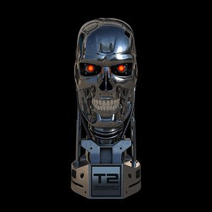3d max terminator t-800 skull