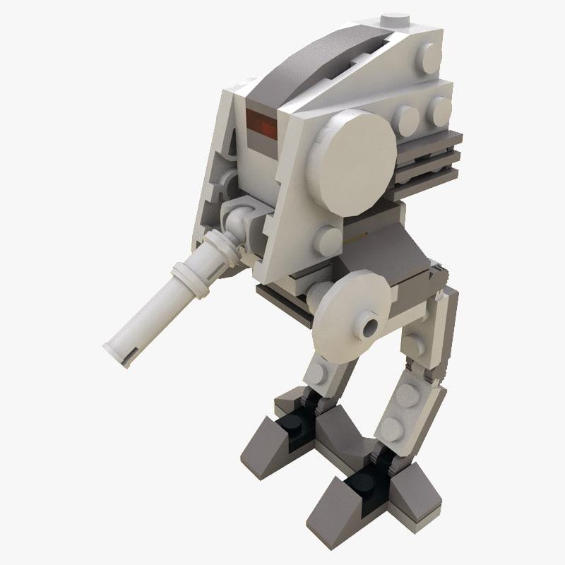 3d model lego at-dp mini