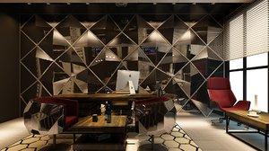 modern office 3d max