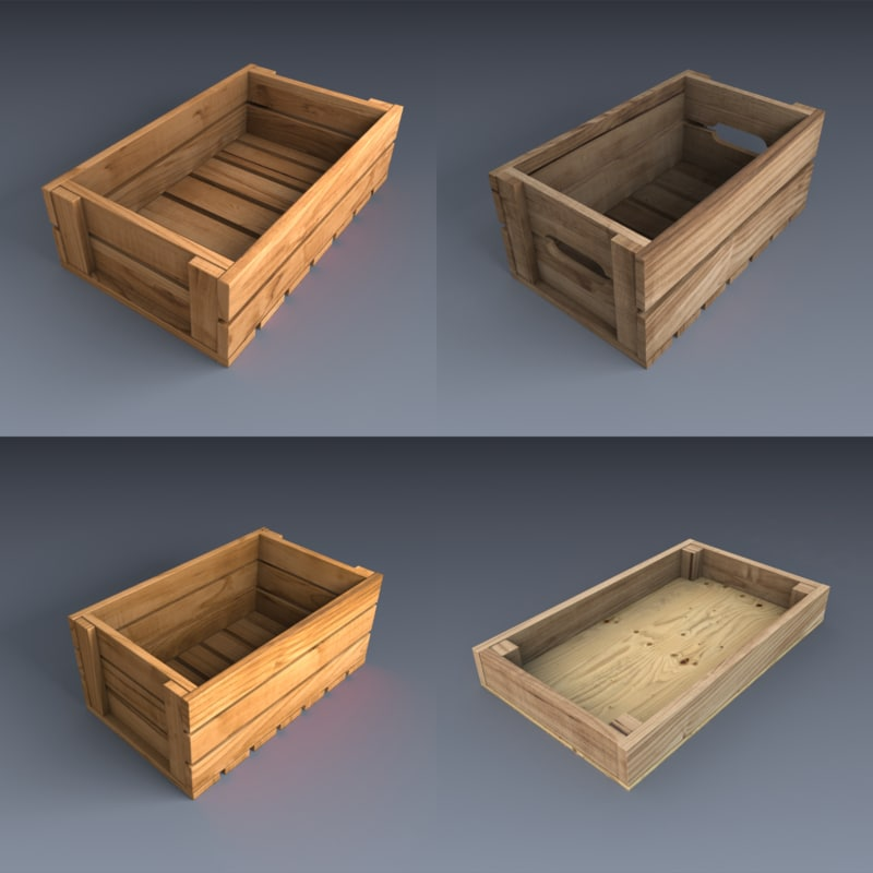3d model boxes