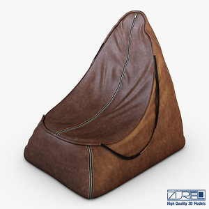 suite pna brown leather 3d model