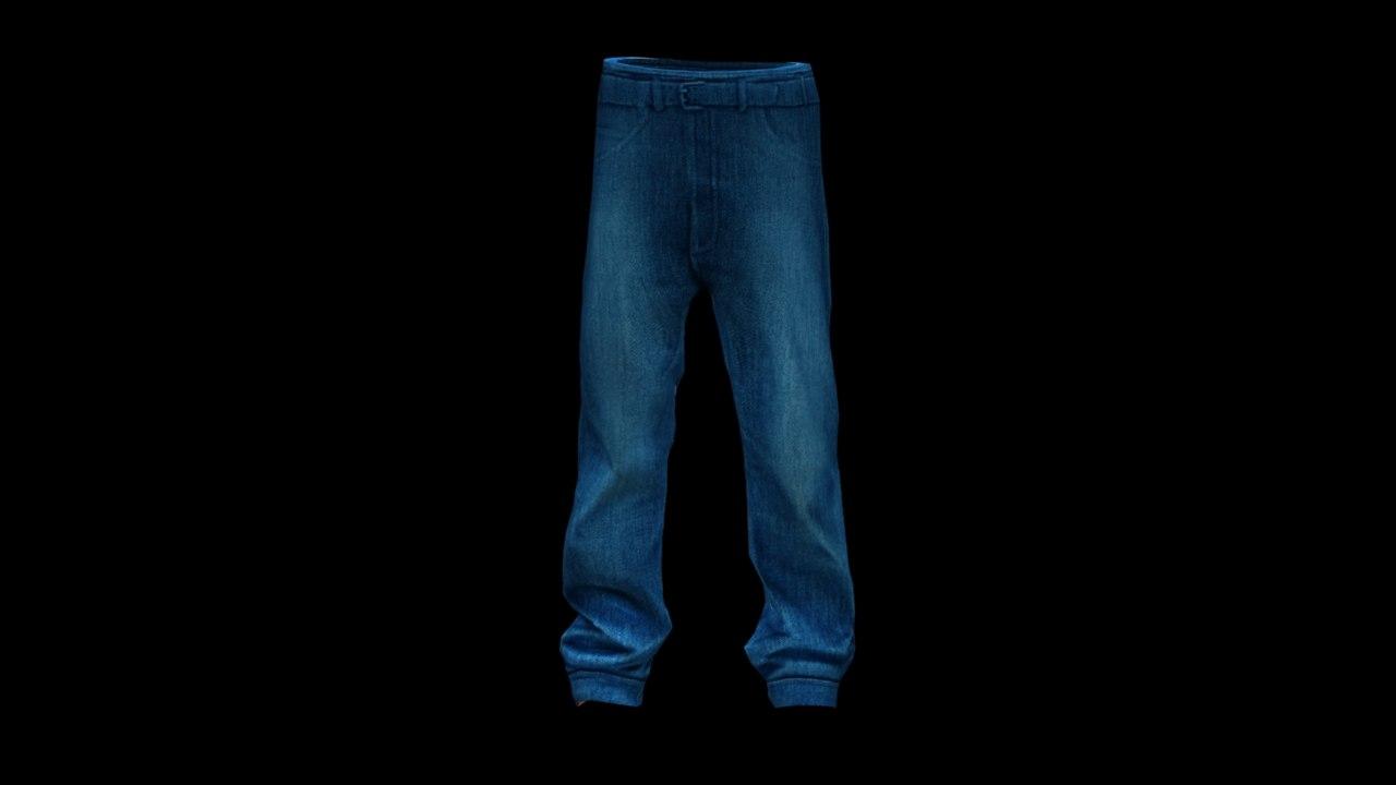 3d jeans clothes model