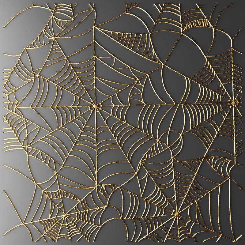 3d cobweb web model