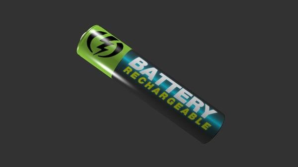 3d battery aaa aa