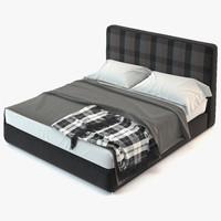 3d max minotti powell bed