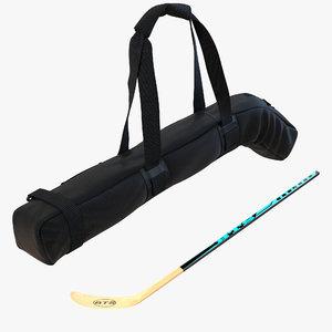 hockey stick bag 2 3d 3ds