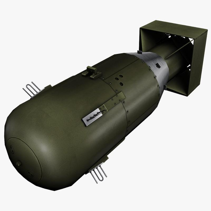 little boy atomic bomb 3d max