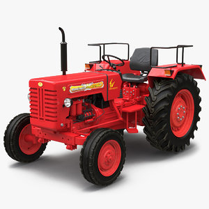3d model tractor mahindra 395 di