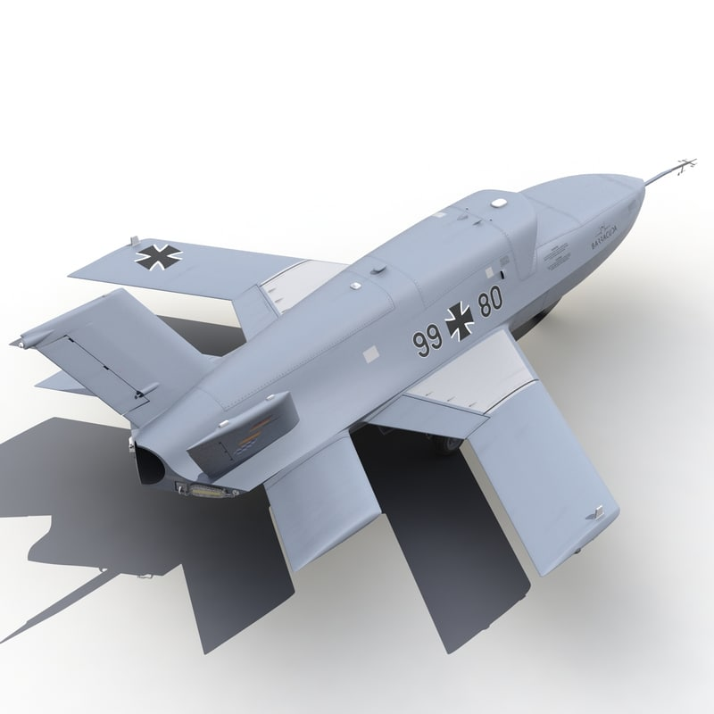 Eads Barracuda Uav 3d Model
