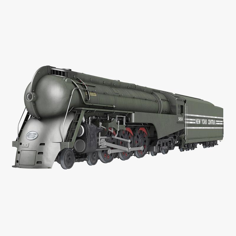 3ds max nyc dreyfuss hudson steam train