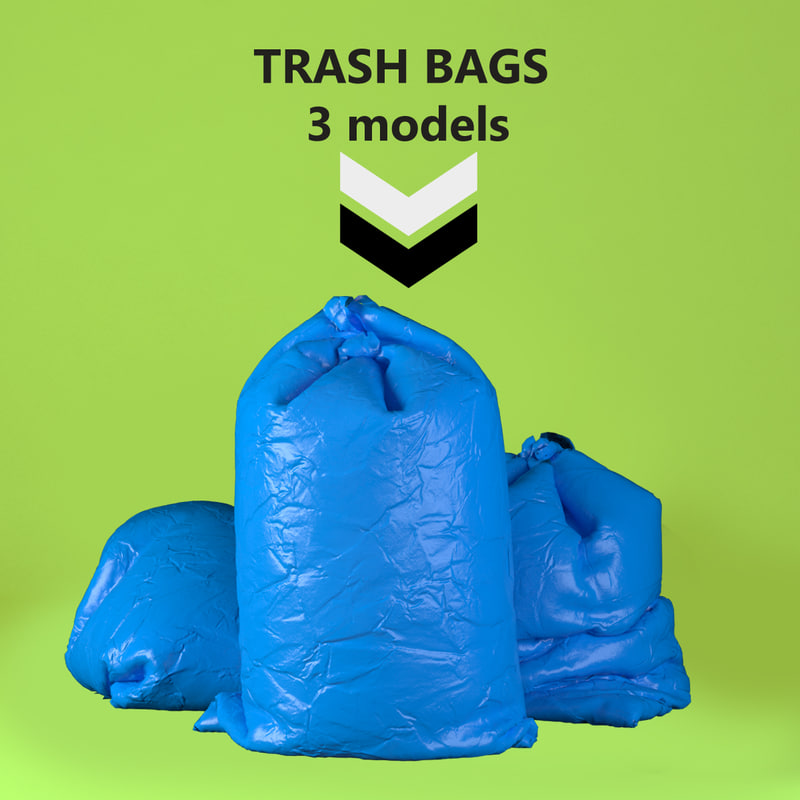 3d trash bags pack