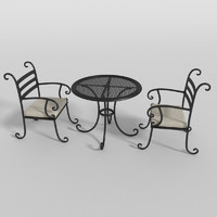 3d patio table model