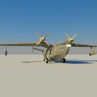 be-12 seaplane 3d max