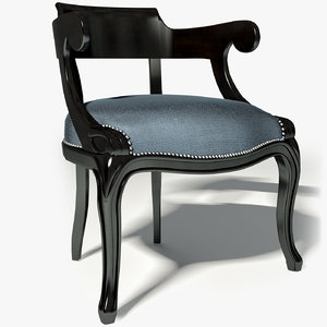3d model of mis en demeure armchair