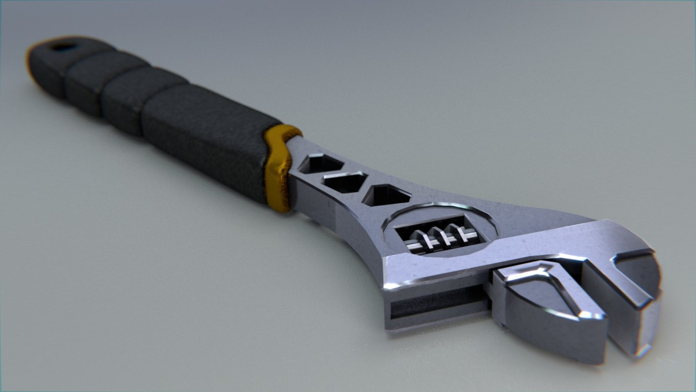 adjustable wrench 3ds