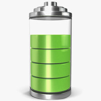 3ds max cell phone battery icon