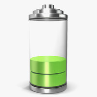 cell phone battery icon 3d 3ds