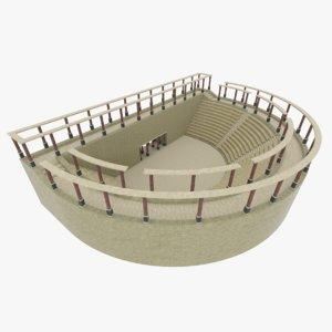 fbx ancient roman amphitheatre