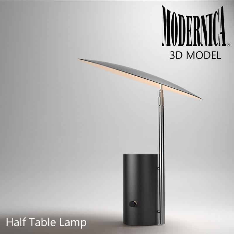 3d modernica half lamp light model