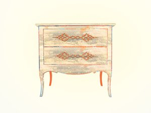 3d model old wood dresser gorgeous