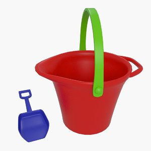 3d model toys bucket shovel
