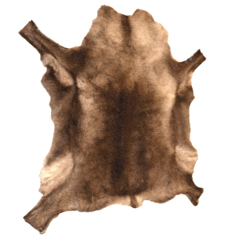 3d reindeer rug