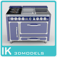 viking burners-griddle-induction 3d max
