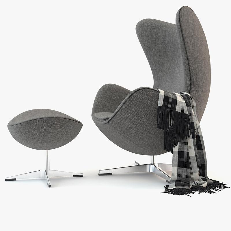3d egg chair model