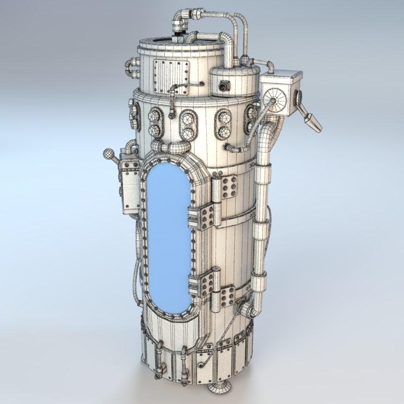 3d model steampunk chamber