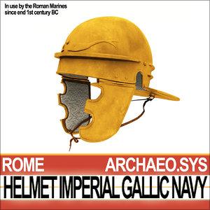 3d roman helmet imperial gallic