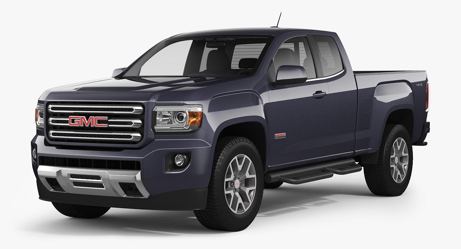 gmc canyon 2016 all-terrain 3d model