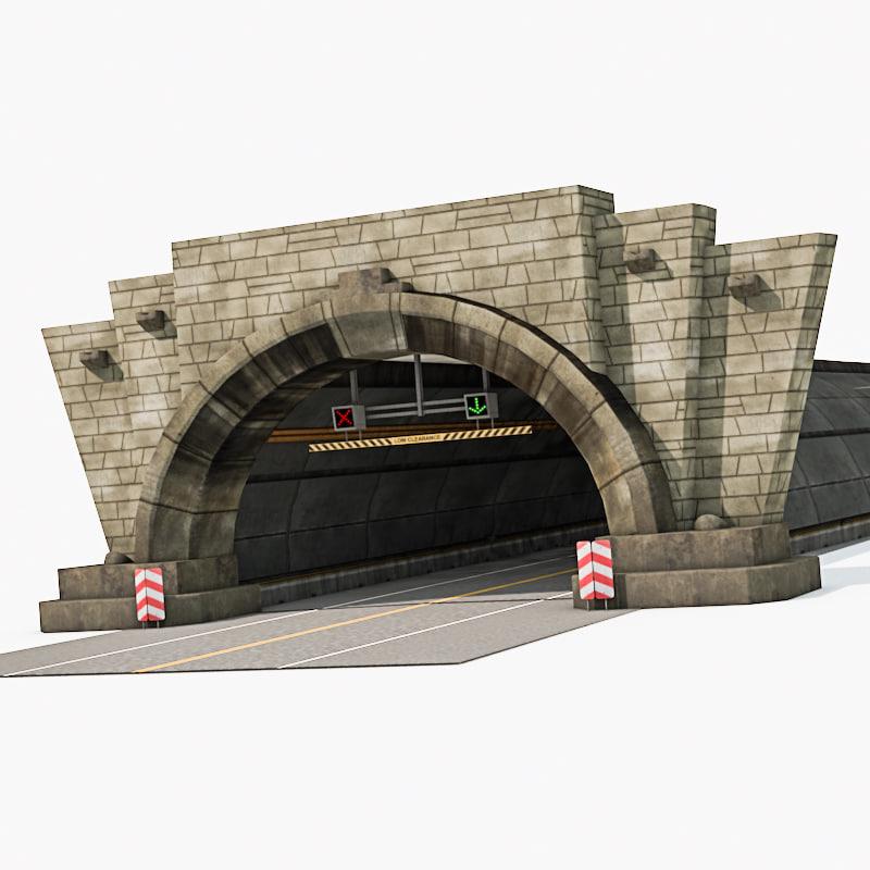 3d entrance tunnel model