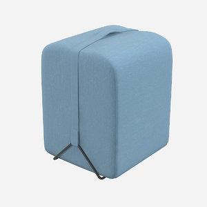 3d model fendi pouf