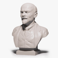 lenin bust 3d model