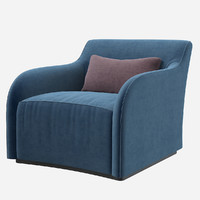 3d model moda page armchair
