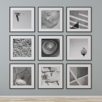 3d model graphic photo wall
