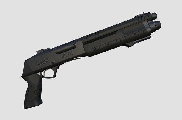 shotgun fabarm stf12 short 3d max