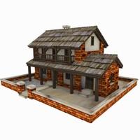 3dsmax cottage