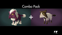 rigging pack cartoon cats 3d x