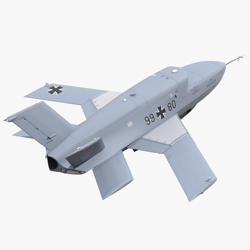 eads barracuda uav 3d model