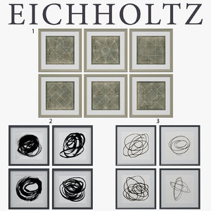 3d model frames eichholtz prints