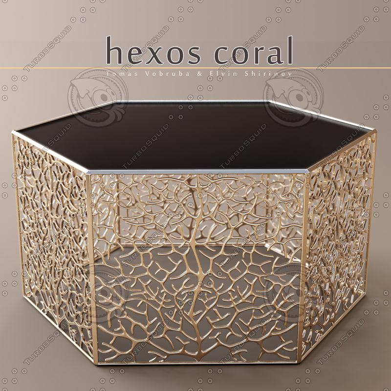 3d model table elvin shirinov hexos