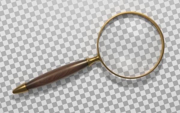 magnifier optical lens 3d obj