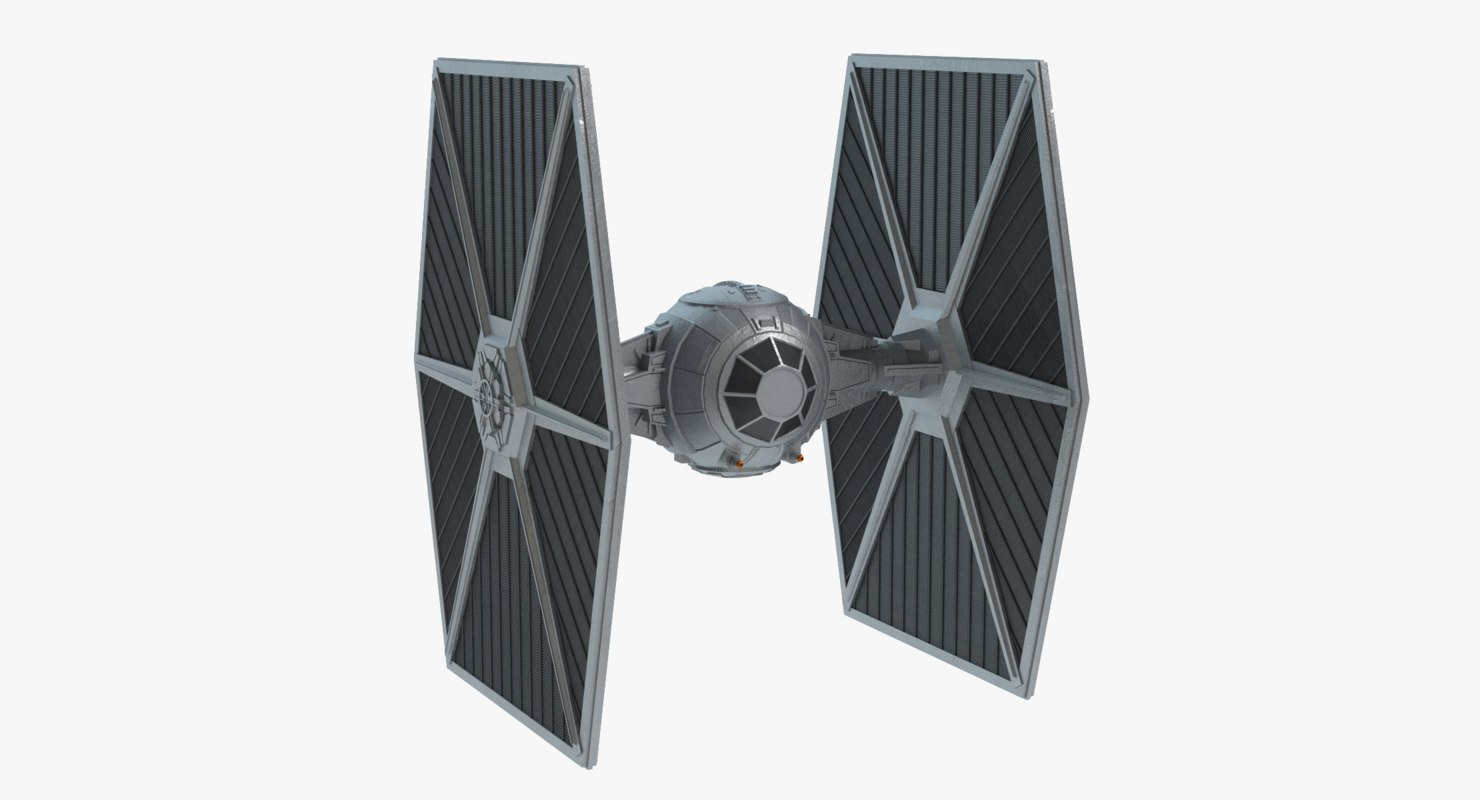 3d model star wars tie-fighter
