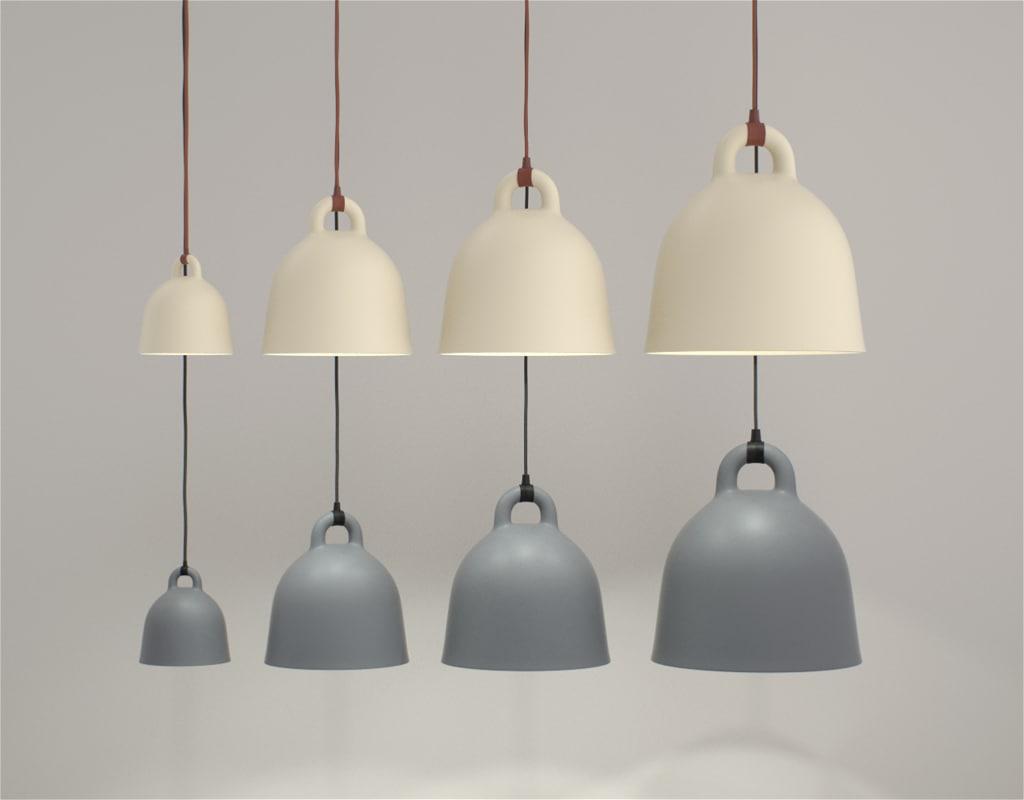 Bell Lamp Lighting 3d Obj