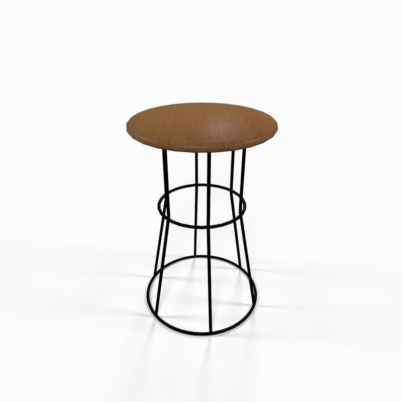3d steel kitchen chair seat