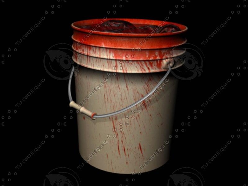 3d model bloody bucket blood