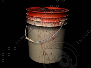3d model bloody bucket blood