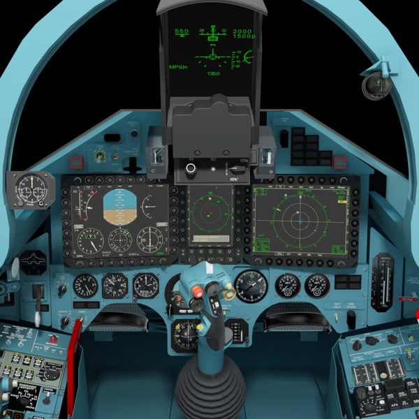 3ds max fighter cockpit cabin