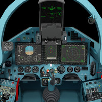 SU-27 SM cockpit updated